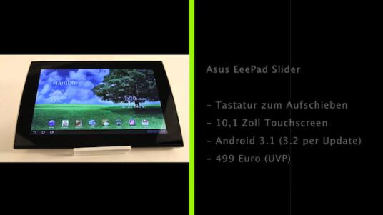 Das Android-Tablet EeePad Slider von Asus verfügt nicht nur über einen 10,1 Zoll großen Touchscreen, sondern auch über eine aufschiebbare Tastatur.