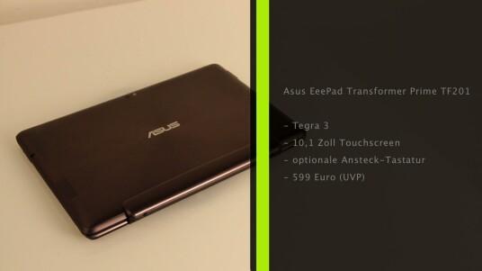 Asus bringt mit dem EeePad Transformer Prime das erste Quadcore-Tablet in Deutschland auf den Markt.
