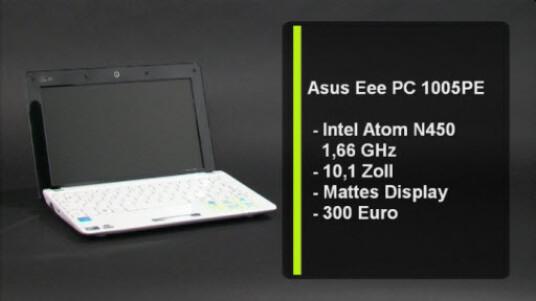 Pluspunkte sammelt der Asus Eee PC 1005PE hauptsächlich durch den neuen Atom-Prozessor. Der Atom N450 steigert nicht nur die Rechenleistung, sondern auch die Akkulaufzeit erhöht sich um einige Stunden.