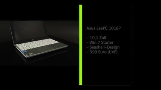 Manchmal reicht der Standard: Dies gilt zum Beispiel bei Netbooks wie dem EeePC 1018P von Asus. Mit der weit verbreiteten technischen Ausstattung erfüllt der Mini-Laptop seine Aufgaben als mobile Schreibmaschine und Internetzugang überzeugend. Nachbesserungsbedarf besteht am ehesten bei der Konstruktion und dem Design.