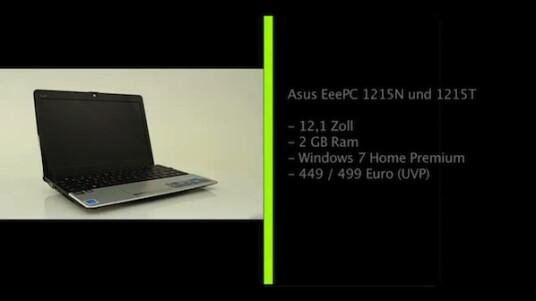 Asus stellt seine Kunden vor die Wahl: Intel oder AMD. Die Netbooks EeePC 1215N und 1215T sind bis auf die Prozessoren von Intel und AMD sowie der Grafikchips von Nvidia und ATI völlig identisch.