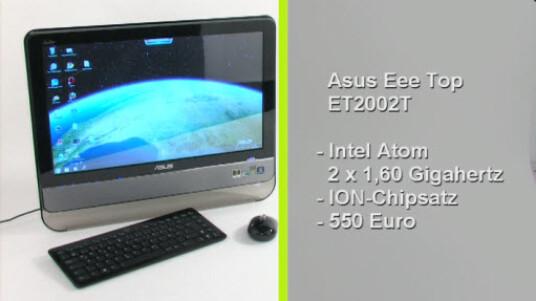 Der Eee Top ET2002T kommt mit einem Intel Atom 2x 1,60 Gigahertz Prozessor und einem Ion Chipsatz daher. Der All-In-One PC bringt eine gute Leistung zu einem günstigen Preis und ist zudem noch energiesparend.