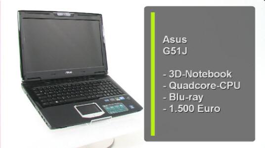 Dieses Notebook vereint 3D mit Leistung und einem Hauch von Mobilität. Für den dreidimensionalen Effekt wird 3D Vision von Nvidia eingesetzt. Für die nötige Rechenleistung sorgt ein Quadcore-Prozessor.