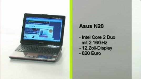 Eine Subnotbook mit ordentlich Rechenleistung und einem ausdauernden Akku. Das Asus N20 ist mit einem Intel Core 2 Duo T5850 mit 2,16 Gigahertz ausgestattet. Die akuulaufzeit beträgt vier Stunden im Office Betrieb.