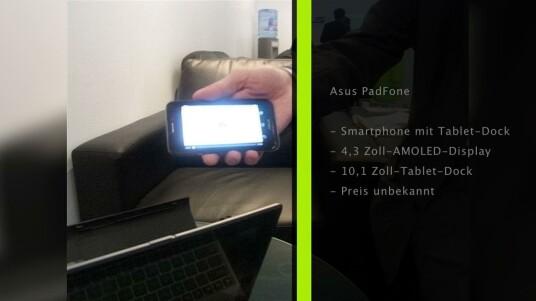 Asus bringt mit dem PadFone ein wandelbares Smartphone auf den Markt. Mit dem richtigen Zubehör wird aus dem Smartphone ein Tablet-PC oder gleich ein Netbook.