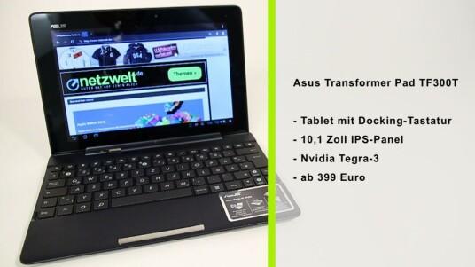 Dieses Transformer Pad lässt sich bei Bedarf mit einem Tastatur-Dock von einem Android-Tablet in ein Mini-Notebook verwandeln.