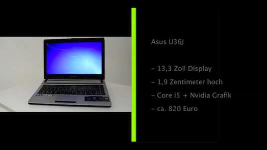 Das Asus U36J ist trotz seines 13,3 Zoll großen Displays gut als mobiler Begleiter geeignet. Das 1,9 Zentimeter hohe Subnotebook wiegt rund 1,7 Kilogramm. Im Test überzeugt es mit einer starken Leistung und einer langen Akkulaufzeit.