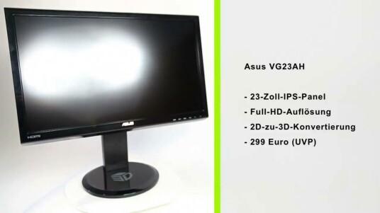 Asus verspricht, dass der VG23AH 3D-Bilder auf Knopfdruck liefert. Im Test muss der Bildschirm zeigen, ob er wirklich alle Inhalte sinnvoll umwandelt.