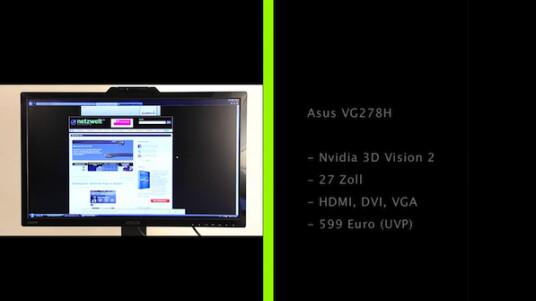 Nvidia hat seine 3D-Vision-Technologie verbessert und Asus liefert den ersten Monitor mit 27 Zoll großem Display dazu.