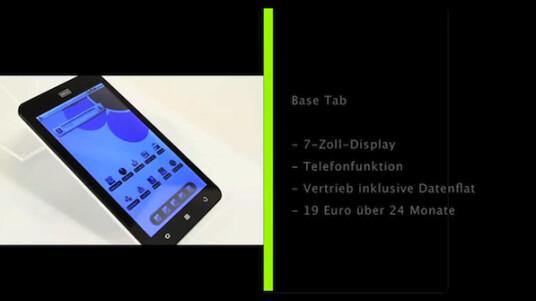 Der Tablet-PC von Base wird inklusive Internet-Flatrate vertrieben.