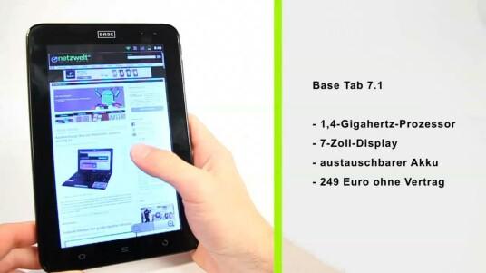 Base bringt mit dem Base Tab 7.1 eine günstige Alternative zu iPad und Co. auf den Markt. Im Test kann das Tablet mit seinem guten Preis/Leistungsverhältnis punkten.
