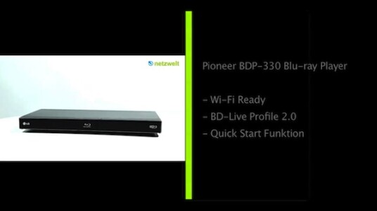 Pioneer BDP-330 Blu-ray Player
