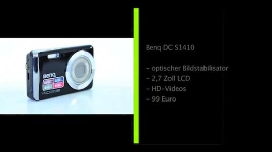 Günstige Kompaktkamera: Benq steigt in Deutschland wieder in den Digitalkameramarkt ein. Zu den ersten Modellen gehört auch die rund 100 Euro teure DC S1410, die über einen optischen Bildstabilisator verfügt und HD-Videos aufnimmt.