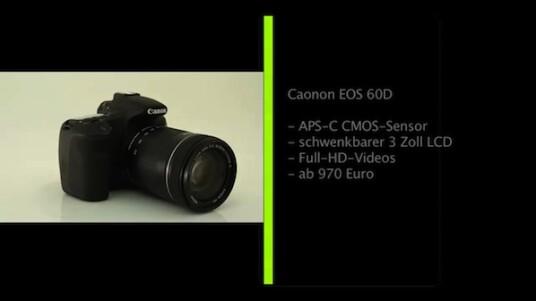 Der bisherige Trend im DSLR-Bereich setzt sich fort: Immer bessere Technik für immer weniger Geld. Die neue Mittelklasse-Spiegelreflexkamera EOS 60D von Canon verfügt über einen großen Bildsensor und als erste DSLR des Herstellers über einen Schwenkbaren Bildschirm.