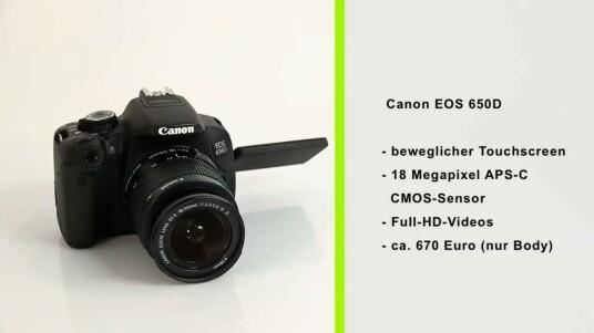 Bei der Canon EOS 650D handelt es sich um eine gewohnt hochwertige Spiegelreflexkamera aus der Mittelklasse, die zudem über einen beweglichen Bildschirm verfügt.