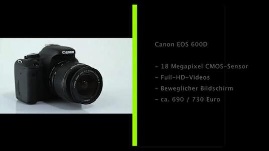 Der drei Zoll große und bewegliche Bildschirm stellt die auffälligste Neuerung der Canon EOS 600D im Vergleich zum Vorgängermodell dar.
