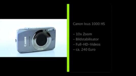 Ein CMOS-Sensor, wie er in der Canon Ixus 1000 HS steckt stellt unter Kompaktkameras eine Seltenheit dar. Zusammen mit dem HS-System soll er Aufnahmen mit geringen Bildrauschen liefern.