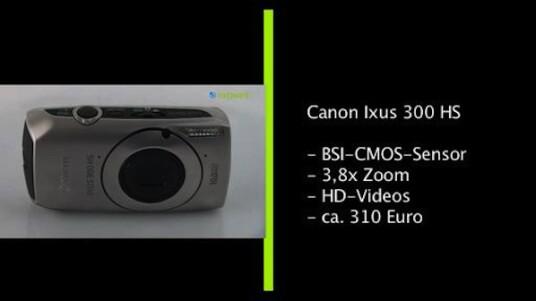 Ohne den rückseitig belichteten Bildsensor wäre mit Canon Ixus 300 HS eine Kompaktkamera mit unauffälliger Standard-Ausstattung. Der Chip sorgt aber für gute Bilder und die Bedienung der Kamera gestaltet sich zudem angenehm einfach.