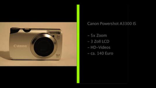 Solides Handwerk statt experimentelle Technik: Bei seiner Kompaktkamera Powershot A3300 IS setzt Canon auf eine Ausstattung, die momentan den Standard markiert.