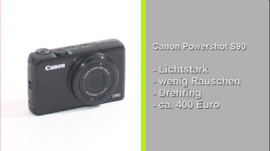 Die Powershot S90 von Canon verfügt über ein für eine Kompaktkamera sehr lichtstarkes Objektiv. Als Ergebnis liefert der Fotoapparat überzeugende Aufnahmen mit geringem Bildrauschen.