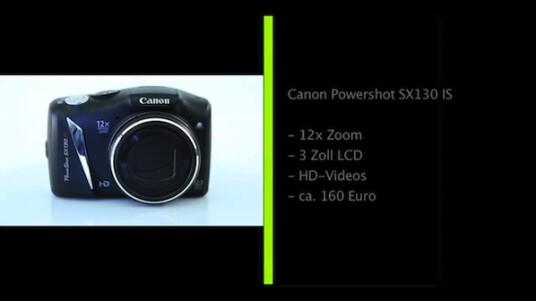 Kompaktkamera mit großem Zoom - Die Canon Powershot SX130 IS verfügt über ein Objektiv mit einer ins Kleinbildformate umgerechnete Brennweite von 28 bis 336 Millimetern. Die Bedienung soll Neulinge und erfahrene Fotografen zufrieden stellen.