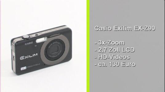 Die Bildqualität der Casio Exilim EX-Z90 bewegt sich auf mittelmäßigem Niveau. Die 118 Gramm schwere Kamera wechselt jedoch auch für den RPeis von 130 Euro den Besitzer.