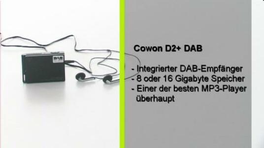 Mit dem D2+ DAB bringt Hersteller Cowon eine MP3 Player mit DAB-Empfänger für glasklaren Radioempfang auf den Markt. Genau wie das Vorgängermodell verfügt der D2+ DAB über ein komplett berührungsempfindliches Display.