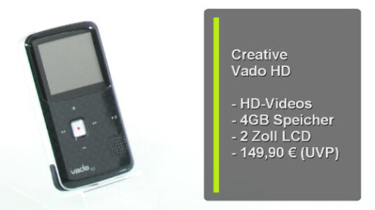 Die Dritte Generation des Creative Vado HD kann locker mit der Konkurrenz von HD-Pocket-Kameras mithalten. Die Bildqualität überzeugt ebenso wie das neue Display und die komfortable Bedienung.