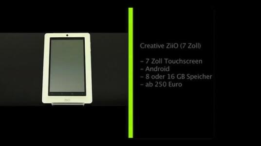 Mit dem ZiiO legt Creative sein erstes Tablet vor. Auf dem Gerät mit einem 7 Zoll großen Touchscreen läuft Android als Betriebssystem.