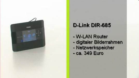 Ein WLAN Router mit Touchscreen. Wer sowas braucht ist mit dem DIR-685 von D-Link gut bedient. Darüber hinaus regelt der Router den heimischen Netzwerkverkehr und bietet Zugriff auf den NAS-Speicher.