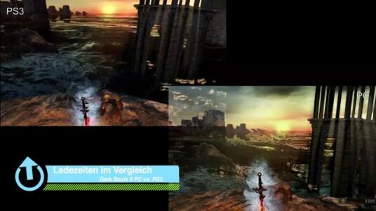 Wir streichen den Spannungsbogen gleich zu Beginn der Videobeschreibung: Die Ladezeiten sind der entscheidende Punkt, weshalb Dark Souls 2 am PC klar die zu bevorzugende Version ist. Wo die Konsolenfassung (hier: PlayStation 3) gefühlt minutenlang lädt, sind wir in der PC-Version bereits zweimal durch Spielhauptstadt Majula gelaufen. Seht selbst.