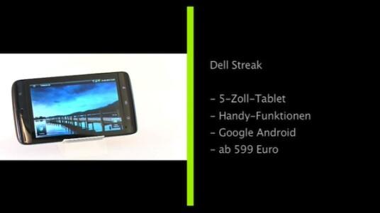 Übergroßes Smartphone oder geschrumpfter Tablet-PC? Eine genaue Produktgattung für das Dell Streak steht noch aus. Aber egal wie man es auch dreht und wendet - das Dell Streak ist ein interessantes Produkt: 5-Zoll-Display, Android-OS, massig Zubehör. Wie sich der Zwitter im Alltag schlägt erfahren Sie im Hands-On bei netzwelt.