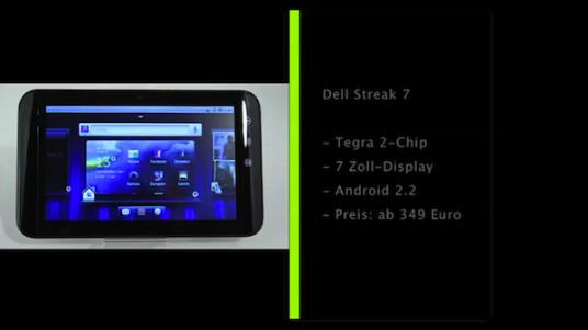 Das Dell Streak 7 ist der Nachfolger des Dell Streak. Anders als der Vorgänger ist kein Mix aus Smartphone und Tablet-Computer mehr, sondern ein reines Tablet.
