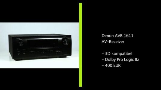 Mit dem AVR 1611 AV-Receiver veröffentlicht Denon einen 3D-fähigen AV-Receiver, der aufgrund seines Preises vor allem auf Einsteiger zugeschnitten ist. Doch auch für anspruchsvolle Nutzer, die auf ihr Budget achten, ist das hochwertige Gerät durchaus eine interessante Alternative.
