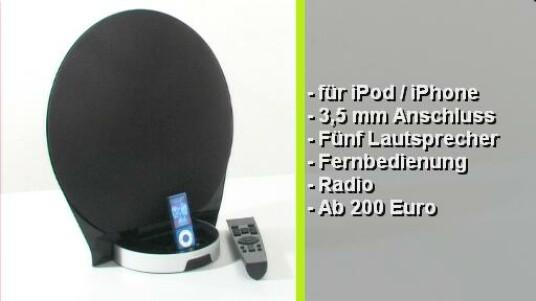 Das Lautsprecher-System Edifier Luna lädt den iPod währen der Wiedergabe von Musik auf. Der Klang und die Optik wissen zu überzeugen. Für 200 Euro bekommt der Anwender eine Fernbedienung inklusive, mit der sämtliche iPod Funktionen bedient werden können.