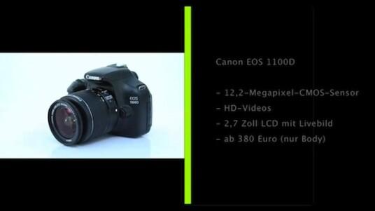 Canon lockt mit seiner EOS 1100D Einsteiger zur Spiegelreflexfotografie. Die günstige Kamera weist zwar einige Abstriche bei der Ausstattung auf, liefert aber eine gute Bildqualität und lässt sich bequem bedienen.