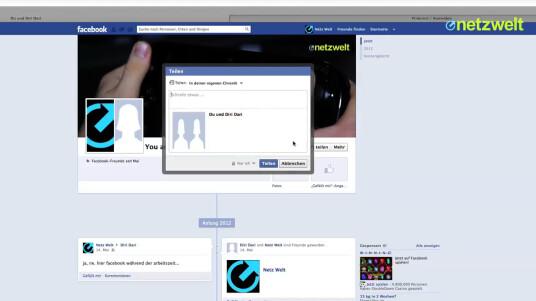 So geht's: Freundschaftsseiten auf Facebook gestalten
