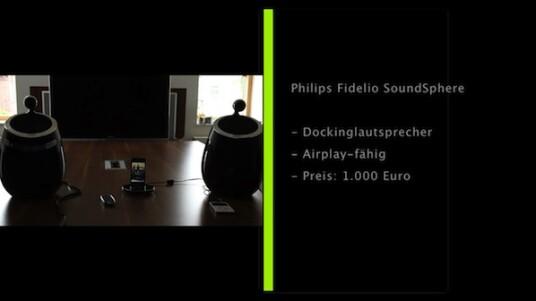 Auch der niederländische Elektronik-Hersteller Philips steigt in den Markt für Airplay-fähige Geräte ein. Das erste Resultat sind die edlen Dockinglautsprecher Fidelio Soundsphere.