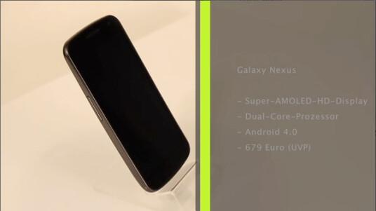 Das Galaxy Nexus ist das erste Android 4.0 Handy. Es ist in Kooperation zwischen Google und Samsung entstanden.