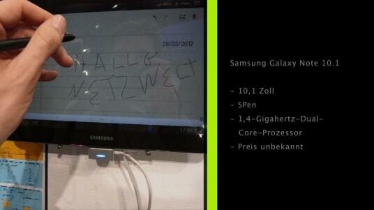Samsung präsentiert nach dem erfolgreichen Marktstart des Galaxy Note eine Variante des Modells in Tablet-Größe.