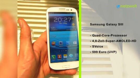 Samsung hat in London endlich sein langersehntes neues Android-Flaggschiff Galaxy S3 vorgestellt. Netzwelt war live vor Ort und konnte sich einen Eindruck verschaffen.