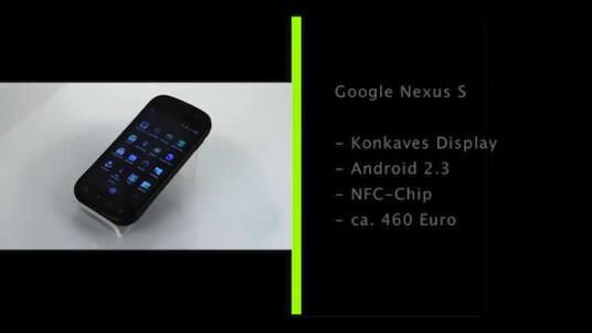 Mit dem Nexus S erscheint das zweite Handy von Android-Hersteller Google. Bei der Entwicklung stand das Erfolgshandy Galaxy S des Produzenten Samsung Pate.