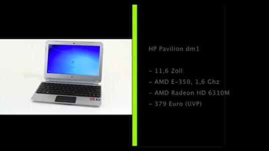 Darf es etwas mehr sein? Das HP Pavilion dm1 verfügt über einen etwas größeren Bildschirm und leistungsfähigere Hardware als ein typisches Netbook.
