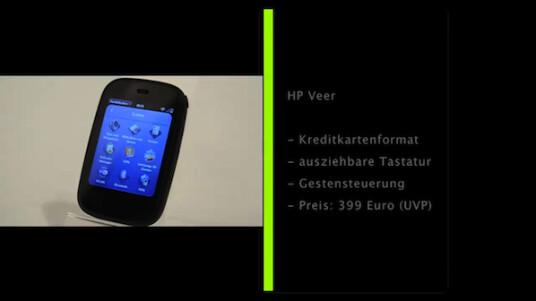 Das HP Veer ist gerade einmal so groß wie eine Kreditkarte ist aber dennoch so leistungsfähig wie moderne Smartphones. Auch die Bedienbarkeit fällt überraschend gut aus.