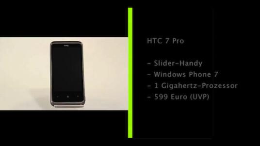 Mit dem 7 Pro bringt HTC ein erstes Slider-Handy mit Microsofts neuen Handy-OS Windows Phone 7 auf den Markt. Das Gerät bietet eine gute Tastatur und ein umfangreiches Office-Paket, das Betriebssystem offenbart jedoch noch Mängel.