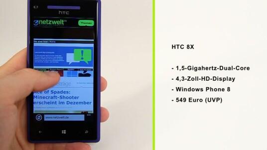 Mit dem HTC 8X ist das erste Smartphone mit Microsofts neuem Handy-OS Windows Phone 8 in der Redaktion eingetroffen. Der ausführliche Testbericht verrät, was es kann.