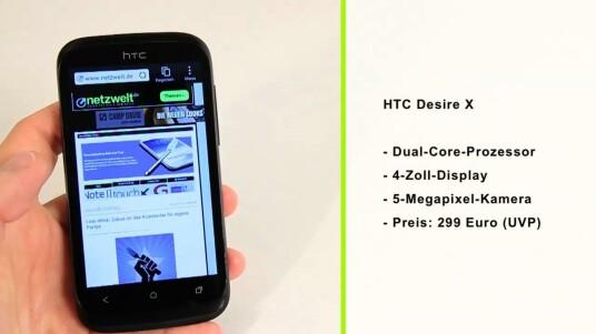 Mit dem Desire X präsentiert HTC ein schickes Einsteiger-Smartphone, das technisch sogar einem Modell aus der One-Reihe überlegen ist.