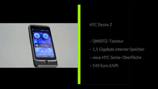 HTC bringt mit dem Desire Z eine Slider-Variante des beliebten Android-Handys Desire auf den Markt. Die Tastatur bietet dabei auch zwei frei belegbare Tasten.