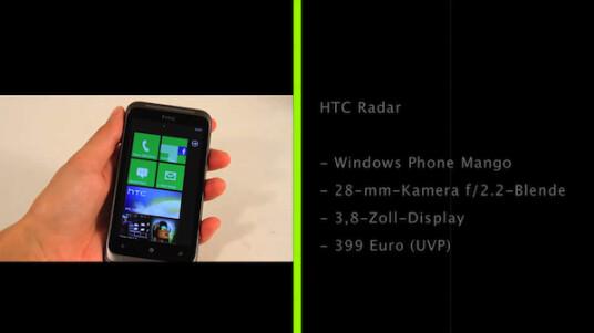 Mit dem HTC Radar präsentiert HTC ein Mittelklassen-Windows-Phone, das es mit der Android-Konkurrenz aufnehmen kann.