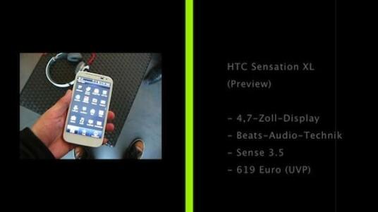 HTC Sensation XL Preview